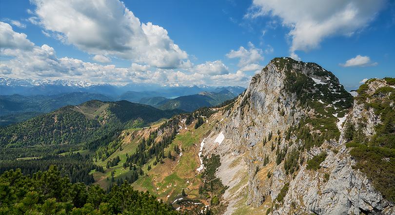 Benediktenwand Alpenpanorama vom Gipfel